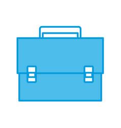 Briefcase business symbol vector