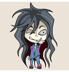 cartoon funny girl in pajamas vector image vector image