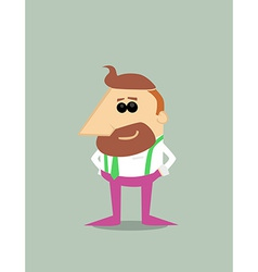 Cartoon hipster businessman vector image vector image