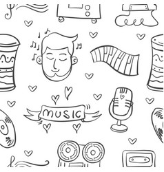 Collection stock musical instrument doodles vector