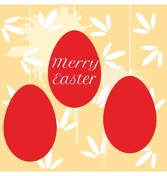 colorful easter eggs hanging on pearl beads vector image
