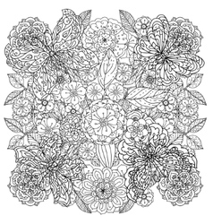 coloring book antistress style picture vector image vector image