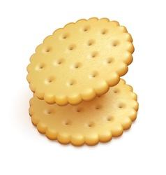 Crisp cookies snacks isolated vector