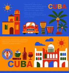 cuba havana travel banner vector image vector image