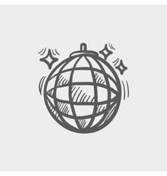 Disco ball sketch icon vector