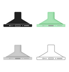 Exhaust hood icon in cartoon style isolated on vector