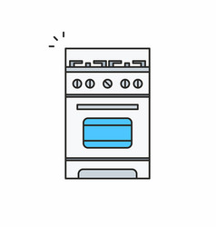 Gas stove icon vector