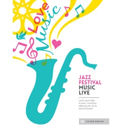 Jazz music festival design background layout vector image vector image