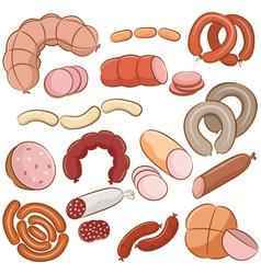 Meats doodles vector image vector image