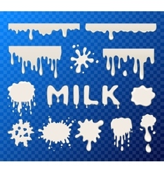 Milk splat collection vector