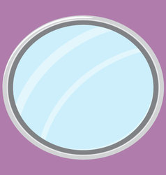 Mirror isolated oval form vector