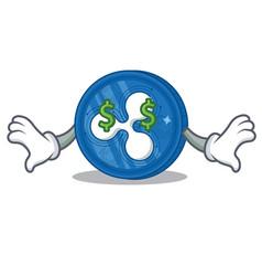 Money eye ripple coin character cartoon vector