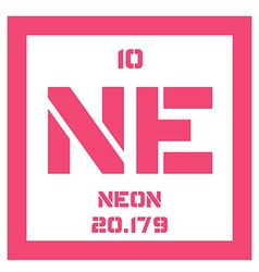 Neon chemical element vector