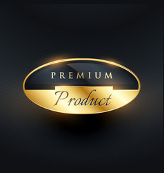 Premium product badge golden label design vector
