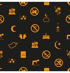 Ramadan islam holiday icons seamless pattern eps10 vector