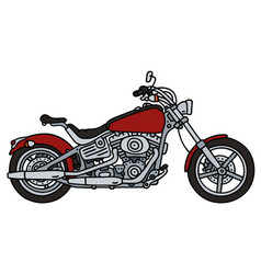 red heavy chopper vector image