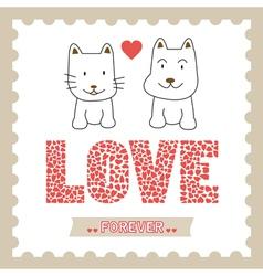 Romantic card15 vector image