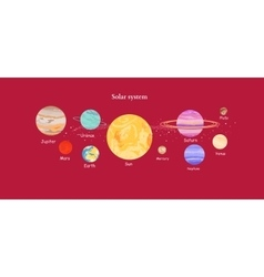 Solar System Icon Flat Design Style vector image vector image