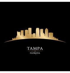 Tampa florida city skyline silhouette vector
