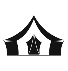 Tent camping symbol icon simple style vector
