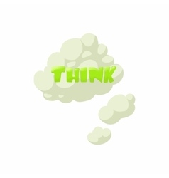Thoughts icon cartoon style vector image vector image