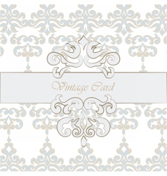 Vintage background with classic ornaments vector image vector image