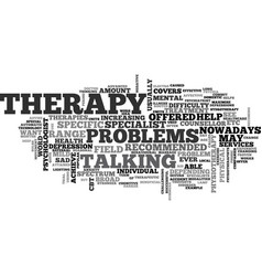 Which therapy text word cloud concept vector