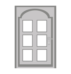 door house isolated icon vector image