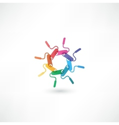 paint roller symbol vector image