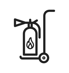 Moveable extinguisher vector