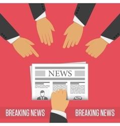 Breaking news concept vector