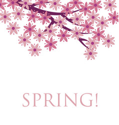 simple naive pink color sakura blossom  primitive vector image
