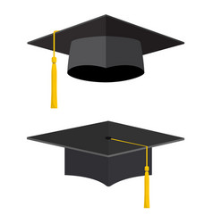 University academic graduation caps vector