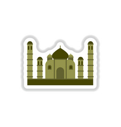 In paper sticker style taj vector