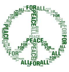 Peace for all white bg vector