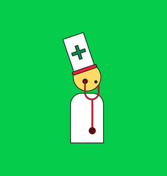 flat icon design collection doctor with vector image