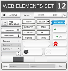 web elements set 12 vector image