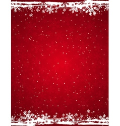 Red grunge christmas background vector