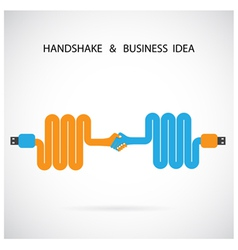Handshake abstract sign design template vector