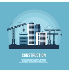Construction industry poster vector