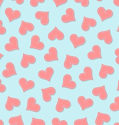 Valentines heart seamless pattern vector
