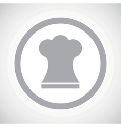 Grey chef hat sign icon vector