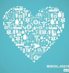 Medical heart blue vector