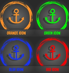 Anchor icon fashionable modern style in the orange vector
