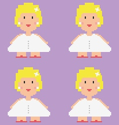 Pixelated bride pattern vector