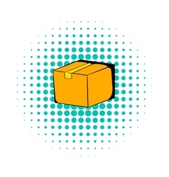 Cardboard box comics icon vector