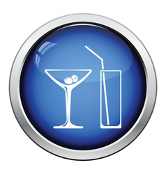 Coctail glasses icon vector