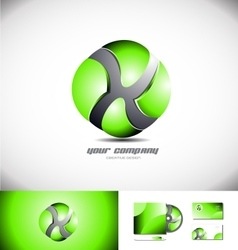 Green sphere 3d logo design icon vector