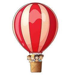 A stripe air balloon vector