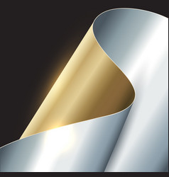 Abstract gold and silver background vector
